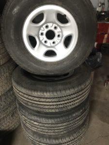 Lt 245/75r16 Bridgestone in Chevy rims