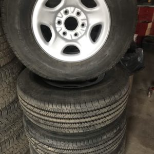 Lt 245/75r16 Bridgestone in Chevy rims